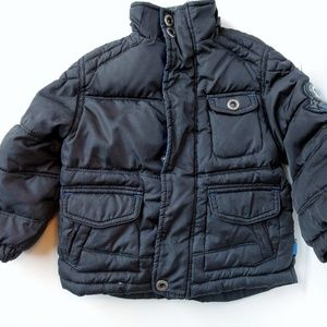 Hawke & co. Boys winter coat 3t, black with patch.